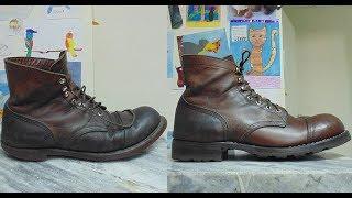 Deconstructing and rebuilding Red Wing 8111 boots / Разборка и восстановление ботинок Iron Ranger