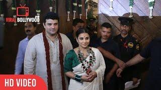 Vidya Balan And Siddharth Roy Kapur At Bachchan's Diwali Party Celebrations
