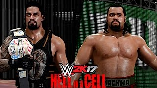 WWE 2K17: Hell in a Cell 2016 - Roman Reigns vs Rusev (Hell in a Cell Match for US Championship)