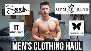 UK STREETWEAR MEN'S CLOTHING HAUL (Gymking, 11 Degree's, SikSilk, Good For Nothing)