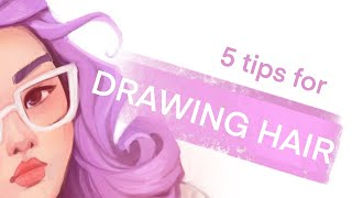 Five Tips For Drawing Hair - Procreate Digital Art Tutorial