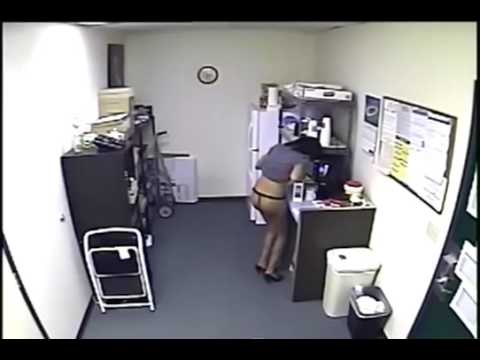 Employee Caught On Camera Refilling Office Creamer