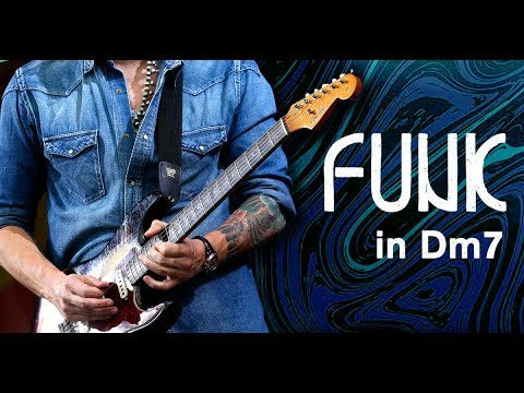 Funky/Bluesy Guitar Backing Track Jam in Dm7