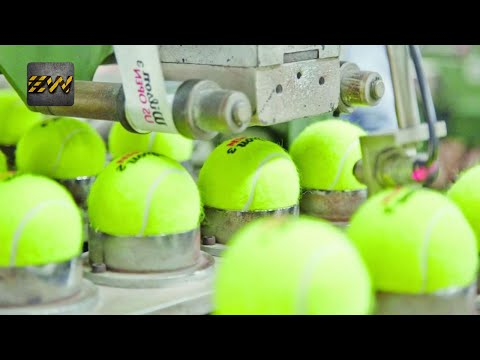 How Tennis Balls Are Made? (Mega Factories Video)