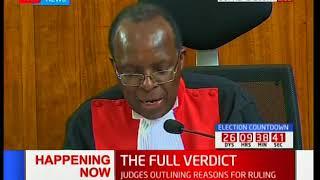 Supreme Court Judge, Jackton Ojwang' outlines his dissenting verdict [Part 2]