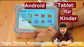 ✅Kinder Tablet Surfans mit Android 9.0 Lerntablet Kids Touchscreen WLAN  Kindertablet Review deutsch