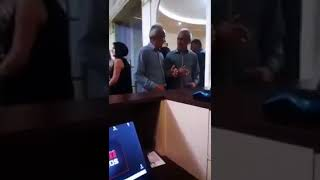 Drunk Armenian Man Fighting With His Reflection In the Mirror