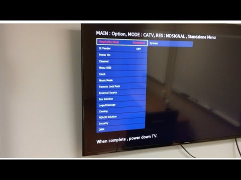 How to unlock hotel Samsung TV menu.