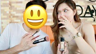 My Boy Friend Does My Makeup Challenge | Christine Sindoko