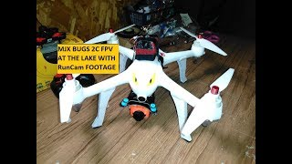 MJX BUGS 2C FPV AT THE LAKE RUNCAM FOOTAGE
