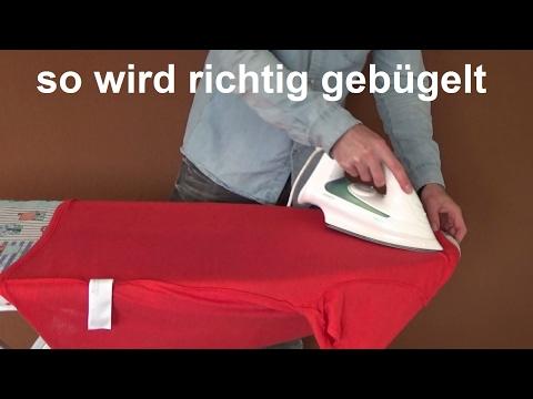 Haushaltstipps T Shirt richtig bügeln so bügelt man ein T-Shirt oder Pullover