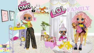 IM RUNNING AWAY FROM HOME! LOL Family OMG Doll Winter Disco Crystal Star Brings Home New BABY!