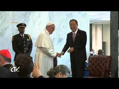 Rencontre du Pape avec le personnel de l'ONU