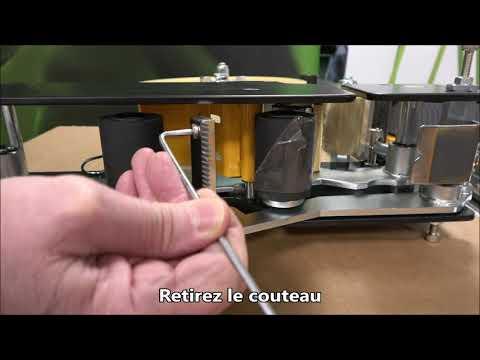 CT 103 SD: Remplacement du couteau
