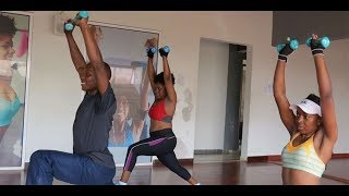 Aerobics with dumbbells for strength training