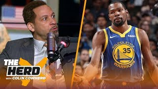 Chris Broussard says 'jealousy' is behind KD's comments on LeBron, talks Westbrook | NBA | THE HERD