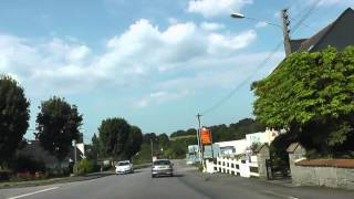 preview picture of video 'Driving Around 29270 Carhaix-Plouguer, Finistère, France 26th July 2012'