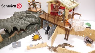 Schleich Croco Jungle Research Station Unboxing   Schleich Wild Life 42350 Unboxing