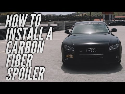 How to install a carbon fiber spoiler (AUDI A5)