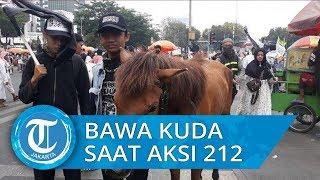 Demi Ikut Aksi 212, Remaja 16 Tahun Ini Nekat Tuntun Kuda dari Bogor ke Jakarta