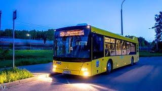 Автобус Минска: Поездка на автобусе МАЗ 203.088 марш 86 (ГОС№: АТ 0384-7) 30.05.21