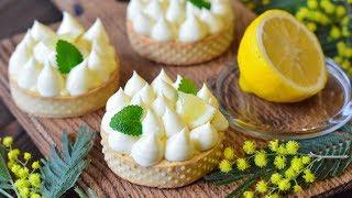 ТАРТ с лимонным курдом и заварным кремом ☆ Lemon tart