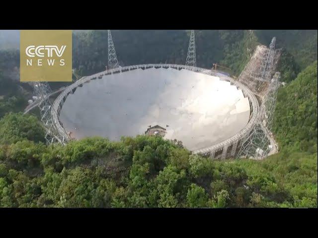 """لقطات جوية لأكبر """"راديو تلسكوب"""" في العالم تم بناءه في الصين"""