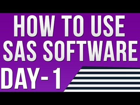 SAS Online Training | Introduction to SAS Software| How to use SAS