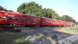 preview picture of video 'Ferrovías GM G22CU NºE704 entre Munro y Florida 27/02/2011'