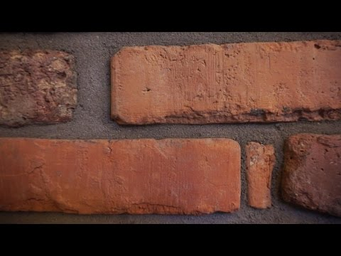 Verfugen von Sichtmauerwerk, Ziegelwand, Kamin, Klinker