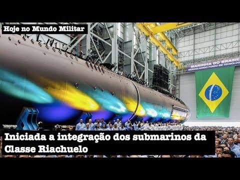 Iniciada a integração dos submarinos da Classe Riachuelo