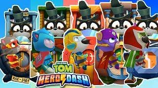 Talking Tom Hero Dash - Discover all the heroes - New Update - Helloween - Full walkthrough - BOSSES