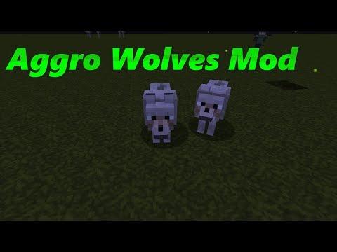 minecraft Aggro Wolves Mod
