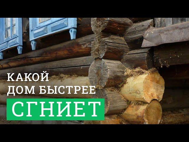 Постер для видео - Какой деревянный дом сгниёт быстрее? Из сосны, кедра или лиственницы?