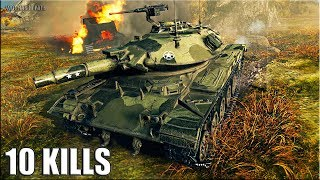Т49 на ФУГАСАХ 🌟 медаль КОЛОБАНОВА, ПУЛ 🌟 World of Tanks лучший бой на лт 9 уровень Т49
