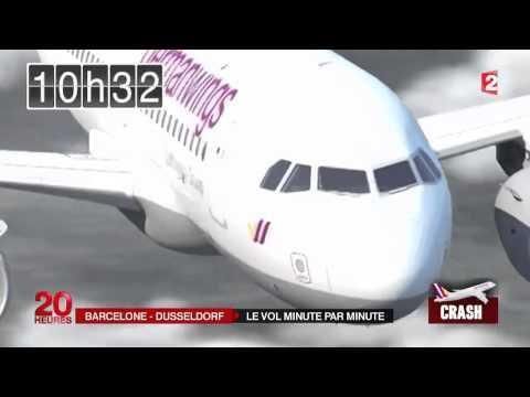 هكذا سقطت الطائرة الألمانية في جبال الالب بفرنسا