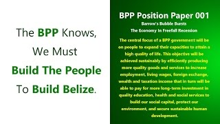 Belize is nearing Critical Failure. Help us share the BPP's Solutions.