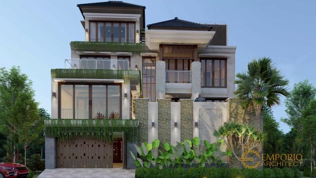 Video 3D Desain Rumah Villa Bali 4 Lantai Bapak Gede di Denpasar, Bali