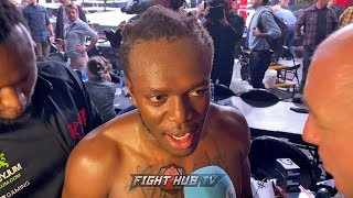 """KSI IMMEDIATELY AFTER LOGAN PAUL WIN """"NO TRILOGY, ITS DONE! I FEEL LIKE A FIGHTER!"""""""