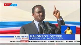 NASA Co-principal Kalonzo Musyoka challenges President Uhuru Kenyatta to commence dialogue or else
