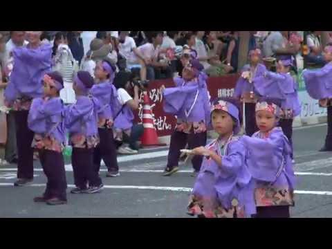 学校法人やまもも学園桜井幼稚園 第62回よさこい祭り 本祭1日目 追手筋 北側