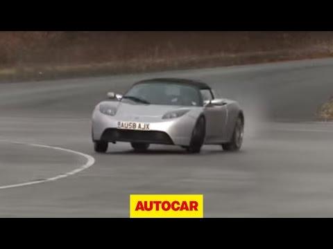 Will it drift? Tesla Roadster - by Autocar.co.uk