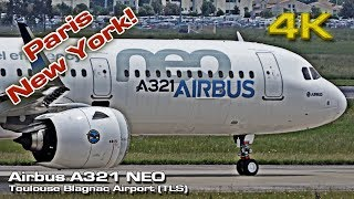 Airbus A321 NEO [4K] Paris New York! (Now flying long range)   Kholo.pk