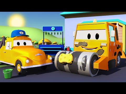 El lavado de Autos de Tom La Grúa: La Aplanadora | Dibujos animados para niñas y niños