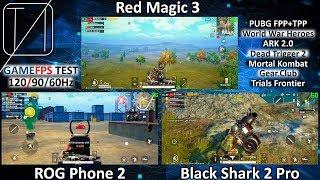 ROG Phone 2 vs Black Shark 2 Pro vs Red Magic 3 - Game FPS Test