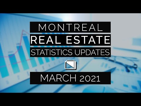 Montreal Real Estate Statistics Updates - March 2021