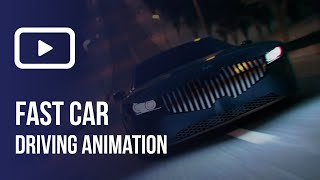 Fast Car Driving Animation | Blender 2.81a