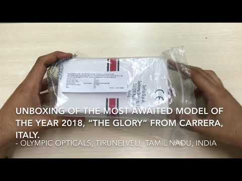 "Unboxing of CARRERA 2018 Iconic Special Edition ""GLORY"" Sunglasses"