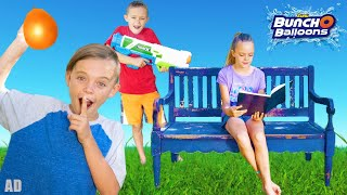 Sneaky Jokes Water Battle With Kids Fun TV And Bunch O Balloons!