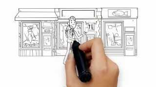 Анимационный видеоролик дудл видео - мультик, нарисованный карандашом